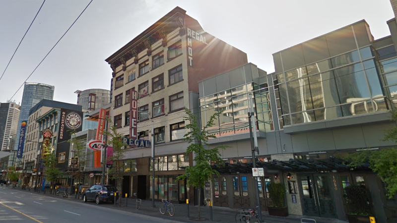 The Regal Hotel in downtown Vancouver is seen in this undated Google Maps image.