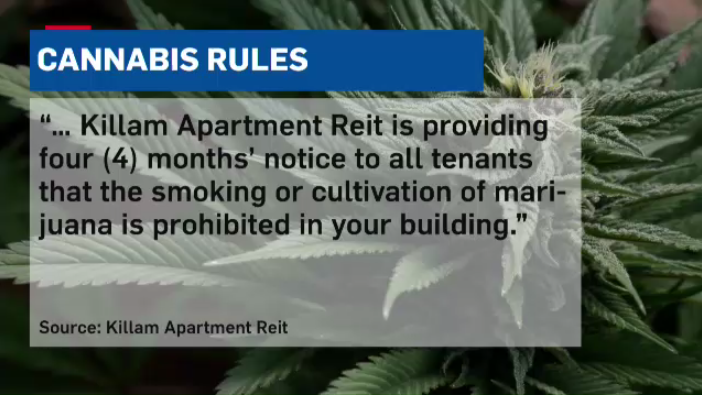 Tenants of at least one Killam Properties apartment building received a letter with this notice.