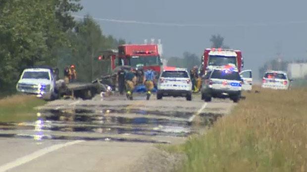 Man killed in crash east of Calgary | CTV News