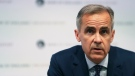 Bank of England Governor, Mark Carney, speaks during a media conference to present the central bank's quarterly Inflation Report, in London, Thursday Aug. 2, 2018. (Daniel Leal-Olivas/Pool via AP)