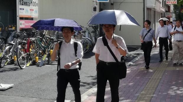 Japan heat wave parasols