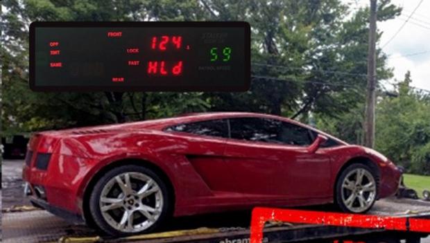 Lamborghini impounded