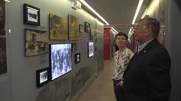 Survivor Mike Cachagee visits new exhibit