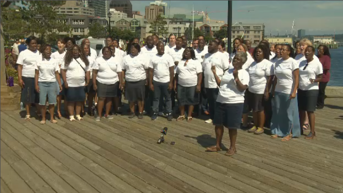 Choir flash mob wows crowds on Halifax water front