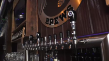 A craft brewery's taps
