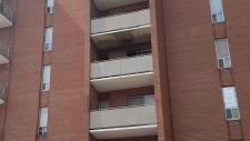 An apartment building after a fire