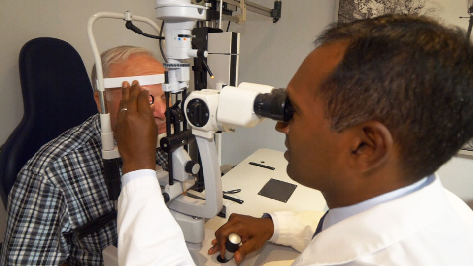 Percy Ford-Smith discovered he was slowly losing his vision after he went in for a routine eye exam. He was shocked to learn he was in the early stages of AMD, or age-related macular degeneration. (CTV News)