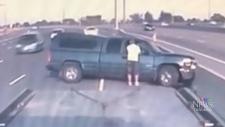 WARNING: Dash-cam of violent Highway 401 crash