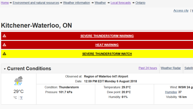 Severe thunderstorm warnings, watches issued for parts of southern Ontario