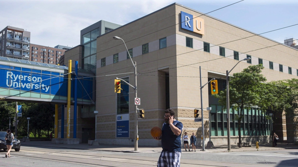 FILE -- Ryerson University in Toronto is seen on Thursday July 6, 2017. (THE CANADIAN PRESS/Chris Young)