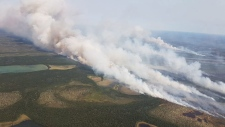 Smoke from fires in the Cochrane sector