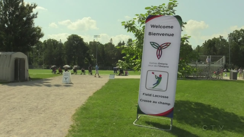 Ontario Summer Games 2018 sign on a field