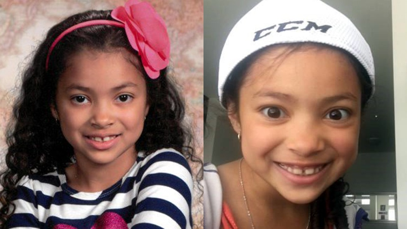 Aaliyah Rosa is shown in undated photos. She died at the age of seven on July 22, 2018.