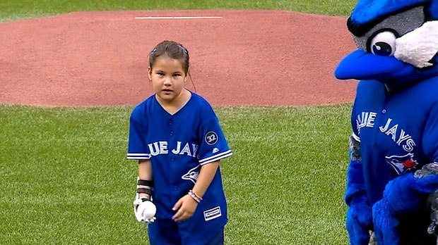 Hailey Dawson, 8, is seen at the Rogers Centre.