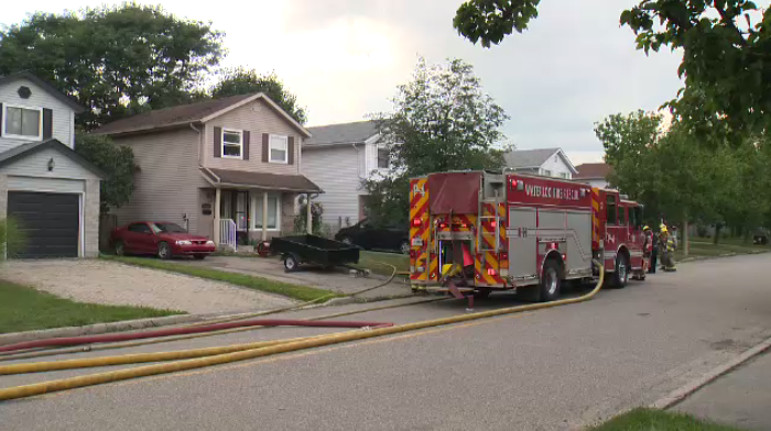 Fire officials say a man was likely taken to hospital after a kitchen fire in Waterloo.