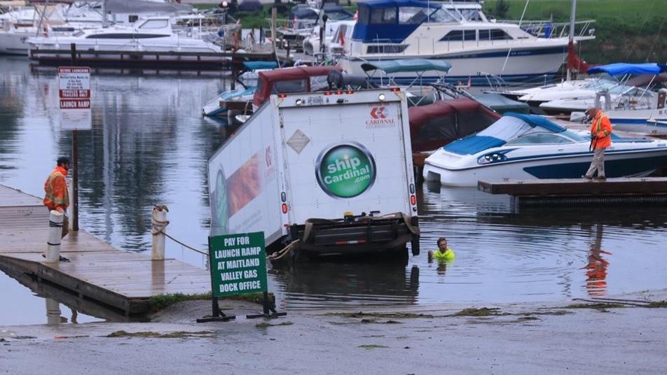 Truck in Maitland Marina