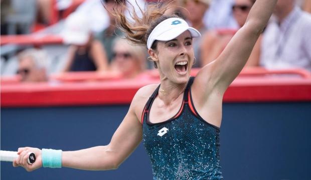 Tennis Cornet upsets Wimbledon champ Kerber in Montreal