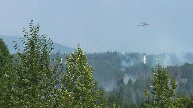 Nanaimo Lakes wildfire grows to 179 hectares
