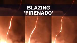 Caught on camera: 'Firenado' swirls in U.K.