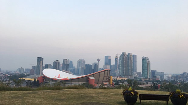 Smoky conditions continue in Calgary and a precautionary air quality advisory remains in effect for Alberta.