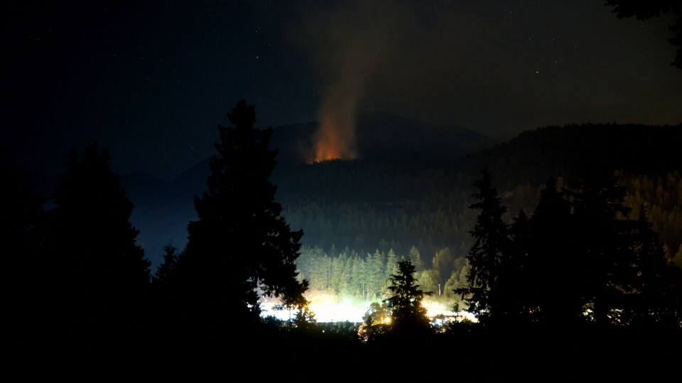 Crews are battling a wildfire that broke out near the small community of Horseshoe Bay on Wednesday night.
