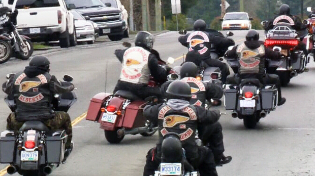 Heavy police presence as Hells Angels hold national