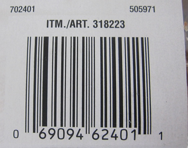 Supplied photo of the product's UPC code.