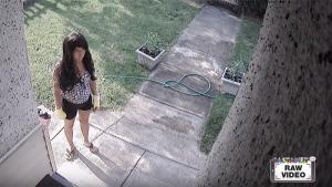 Eerie surveillance video