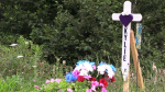 Roadside memorial to crash victim restored