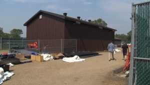 Edmonton Heritage Festival Association built this barn to store its equipment for the festival.