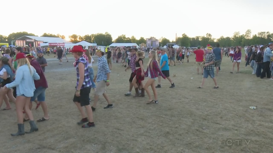 Boots and Hearts country music festival in Burl's Creek, Oro-Medonte, Ont. on August 9, 2018. (CTV News/Mike Arsalides)