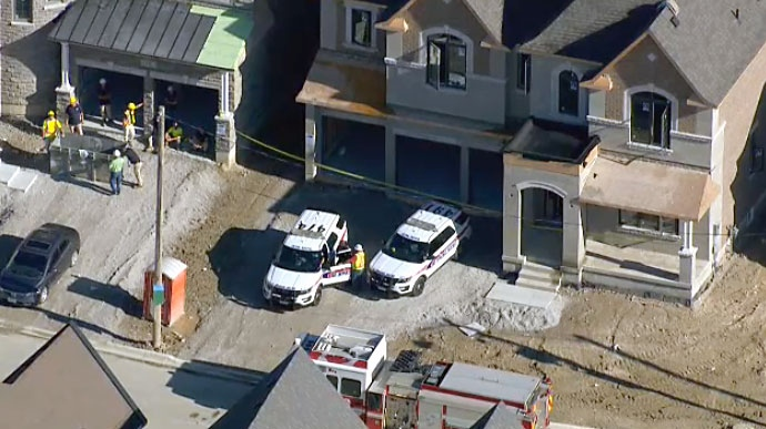 A construction worker was airlifted to hospital on Aug. 10, 2018 after he fell while working at a site in Vaughan.