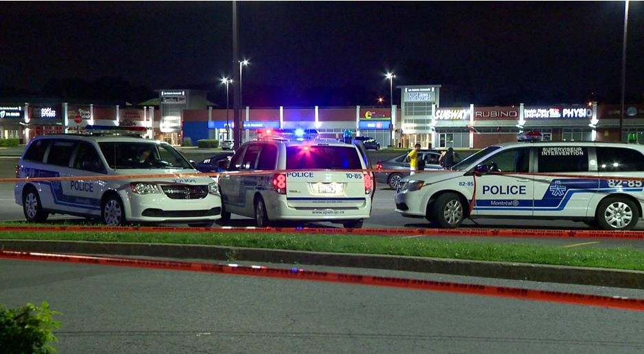 Although the details are murky, police said the victim likely did something to upset the suspect, a 23-year-old man, close to the parking lot of Les Galeries Normandie, before he was stabbed in the upper body. (Cosmo Santamaria/CTV Montreal)