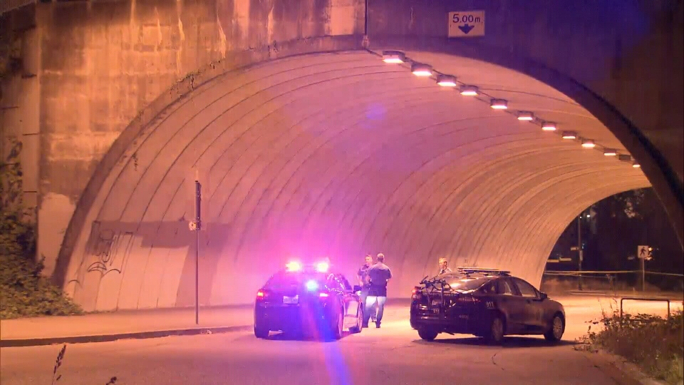 Police respond to a fatal shooting in East Vancouver near the Ironworkers Memorial Bridge.