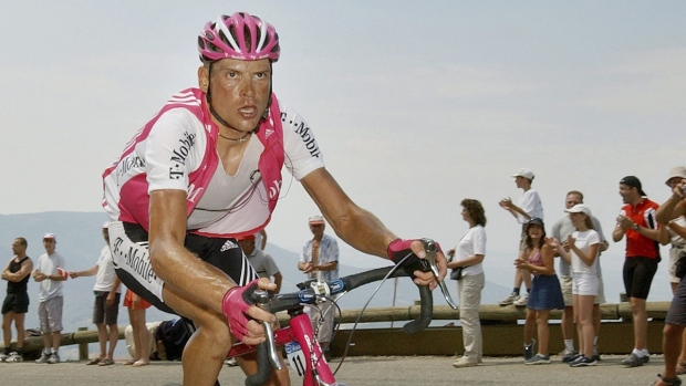 Jan Ullrich during the Tour de France in 2004