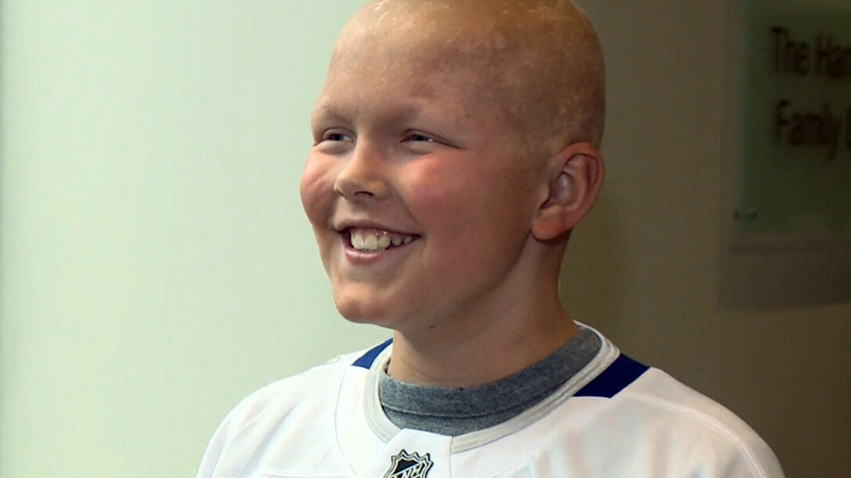 Nine year-old Nicky Caldwell just finished his last radiation treatment.