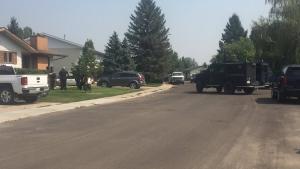 A man was taken into custody after a brief standoff on Friday. (Ashley Field/CTV)
