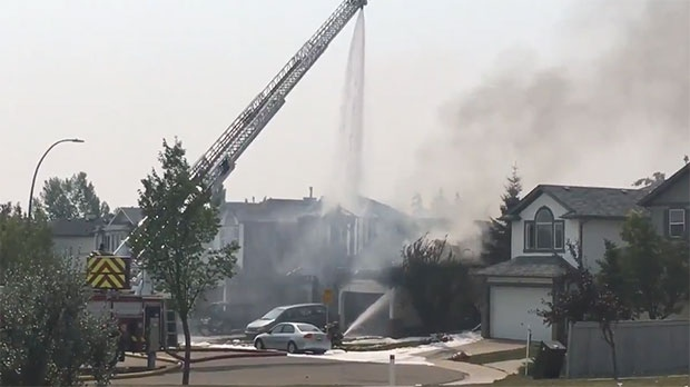 Emergency crews are working to contain a fire in the community of Monterey Park.