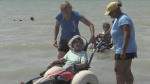 A London nursing home finds a way to create a beach outing for seniors with mobility challenges