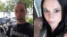 Donnie Robichaud, left, and Bobbie Lee Wright,, right, have been identified as the two civilians killed in a shooting in Fredericton, N.B. on Friday, Aug. 10, 2018.