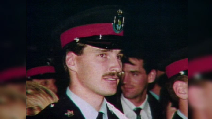 David Nicholson is pictured here in police uniform.