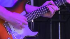 A guitarist plays at Kitchener Blues Fest