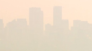 Environment Canada says the air quality in Calgary and Airdrie is expected to hit a 10+ on the scale of health risk.