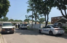 There is a heavy police presence outside of Station Restaurant on Windsor's west side following a stabbing on Saturday, Aug. 11, 2018. (Ricardo Veneza / CTV Windsor)