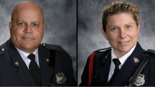 Const. Robb Costello and Const. Sara Burns of the Fredericton Police Force lost their lives in Friday's shootings.