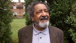 This 2001 file photo shows British author V.S. Naipaul in Salisbury, England. (Chris Ison / PA via AP)