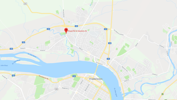 Google maps Fredericton