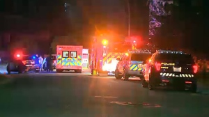 Two men are in hospital suffering from stab wounds that police say were inflicted during an altercation at a house party in West Springs.