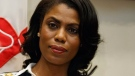 In this Feb. 14, 2017, file photo, Omarosa Manigault-Newman, then an aide to President Donald Trump, watches during a meeting with parents and teachers in the Roosevelt Room of the White House in Washington.  (AP / Evan Vucci, File)