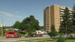 Dozens displaced after Kitchener apartment fire